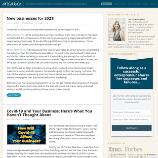 Make Money Online with Successful Entrepreneur Erica Douglass (erica.biz)