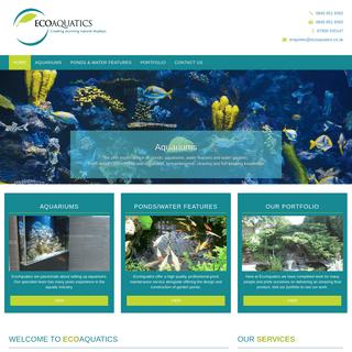 EcoAquatics - Fish Tank Cleaning Hertfordshire-Fish Tank Maintenance-Pond Re-Lining-Marine Aquarium Maintenance-Pond Building-Aq