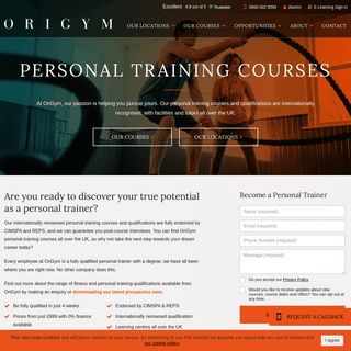 Personal Training Courses - PT & Fitness Courses - OriGym