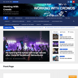 Front Page - Working With Crowds