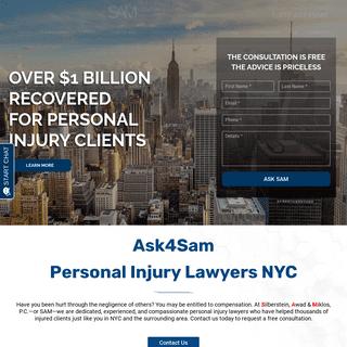Personal Injury Lawyer NYC New York - Silberstein, Awad & Miklos