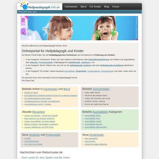 Onlineportal für Heilpädagogik und Kinder - heilpaedagogik-info.de