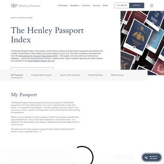 The Henley Passport Index - Henley & Partners