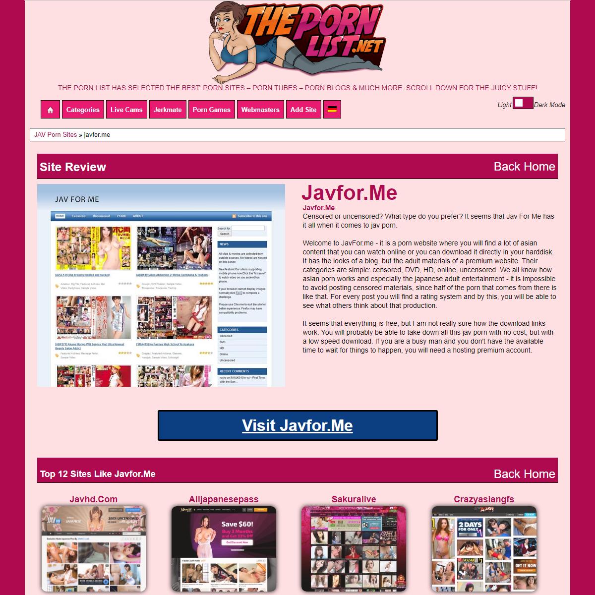 Javfor.me and 28 similar sites like javfor