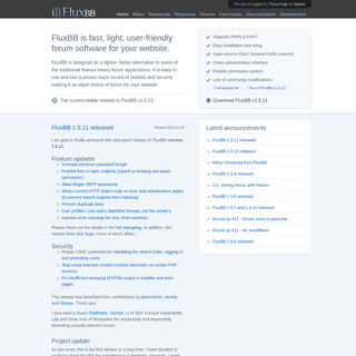 FluxBB - fast, light, user-friendly PHP forum software