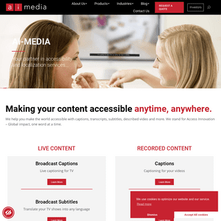 Ai-Media creating accessibility, one word at a time.