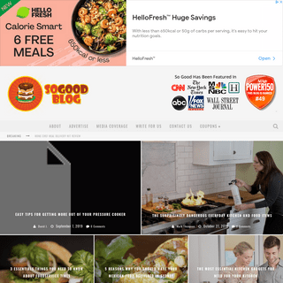So Good Food Blog - Fast Food Reviews Recipes & Coupons