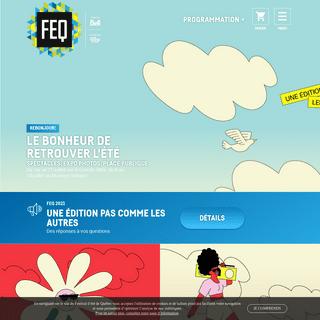 Festival d`été de Québec - Accueil