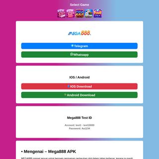 MEGA888 Ⓜ APK Download 2021 - 2022
