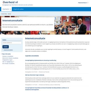 Overheid.nl - Consultatie, open consultaties