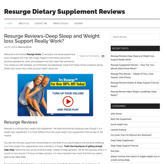 Resurge Supplement Review - Helps Weight Loss&Deep Sleep Really-