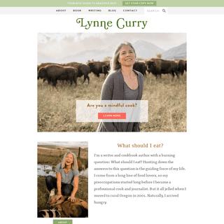 Lynne Curry food writer, author, speaker