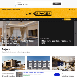 Livin Spaces – online architecture and design magazine
