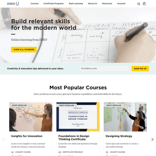 Design Thinking Online Courses – IDEO U
