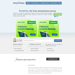 ProxFree- Free Web Proxy - Surf Anonymously & Maintain Privacy
