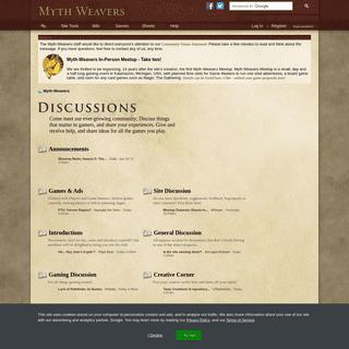 Myth-Weavers - Powered by vBulletin