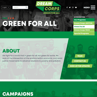 Dream Corps- Green For All - Home