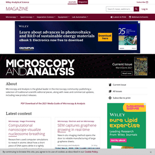 Microscopy and Analysis - Wiley Analytical Science
