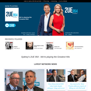 Home Page - Sydney`s 2UE 954