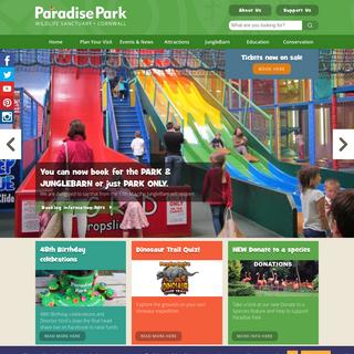 Paradise Park Wildlife Sanctuary and JungleBarn Play, Hayle, Cornwall