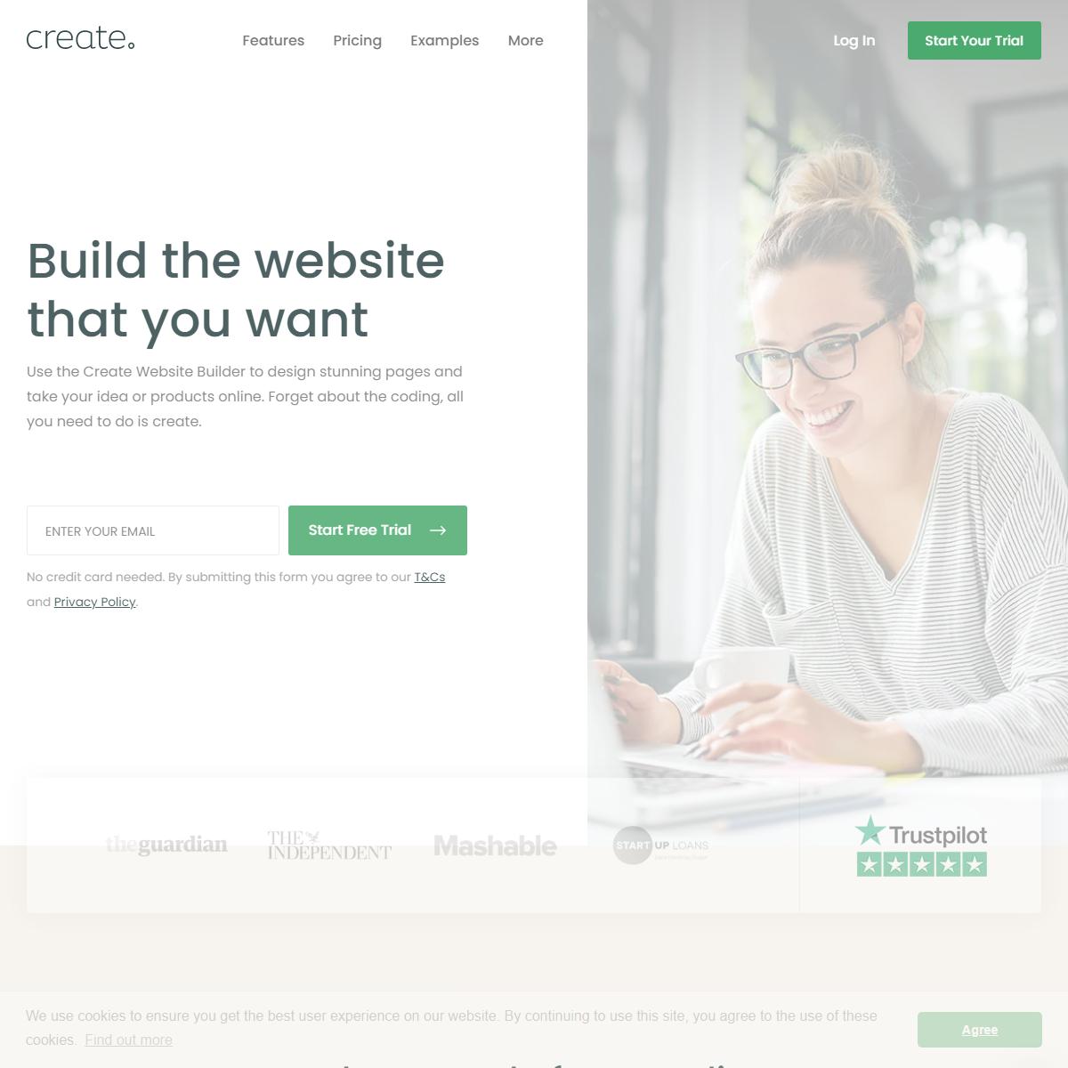 Create A Website - UK Website Builder - Create.net