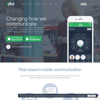 Extra mobile numbers, free & low cost calls & messages - Vyke