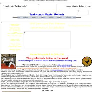 Taekwondo Master Roberts Karate Martial Arts