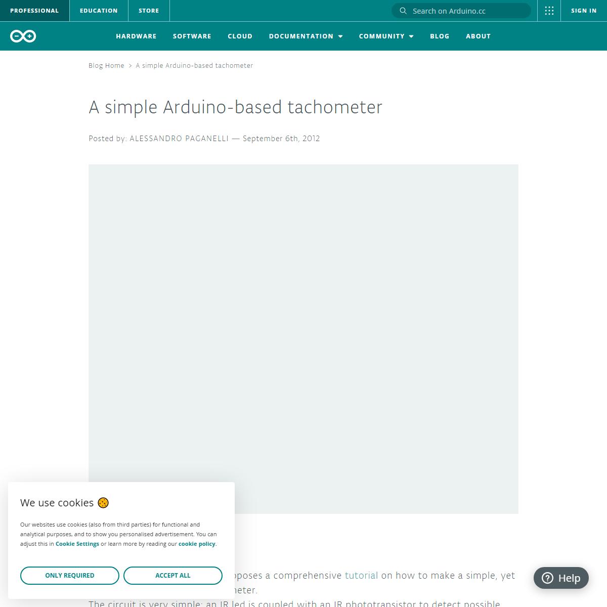 Arduino Blog » A simple Arduino-based tachometer