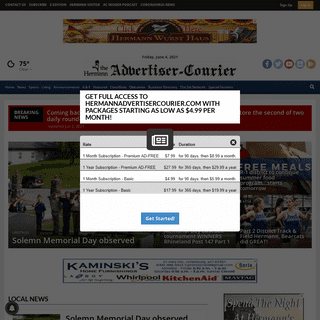 hermannadvertisercourier.com - Breaking & Local News in Hermann, MO