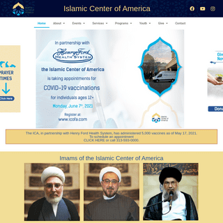 Islamic Center of America – We continue the social, moral, and religious standards of Muslims in the US