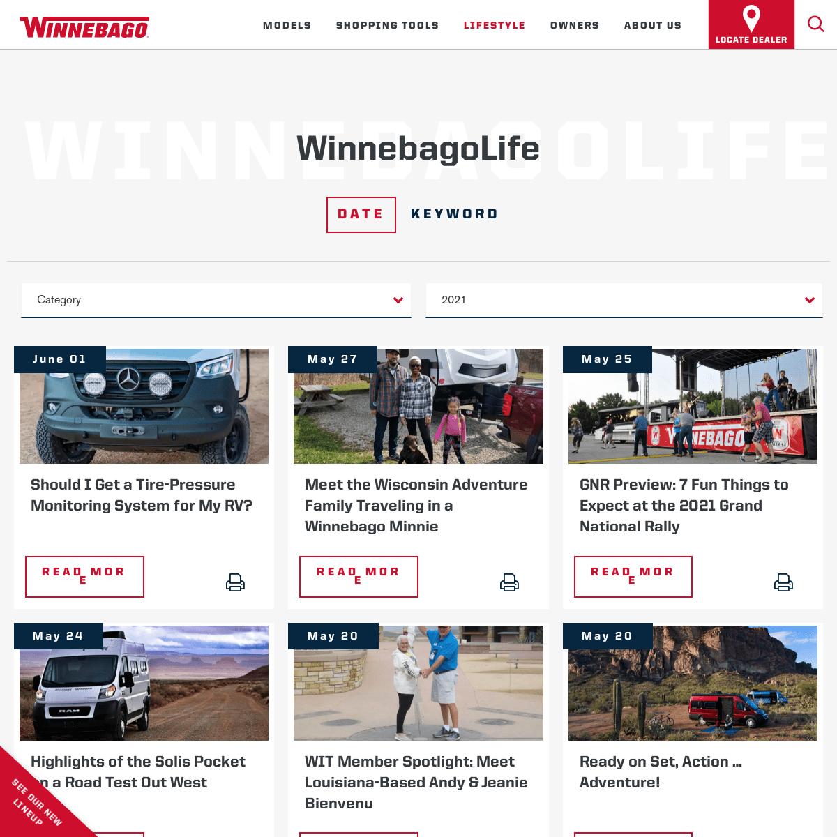 Explore Winnebago Lifestyle Community Blog