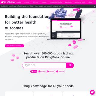 DrugBank Online - Database for Drug and Drug Target Info