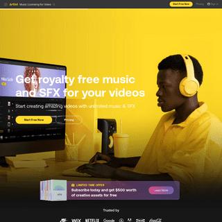 Royalty-Free Music & SFX for Video Creators - Artlist