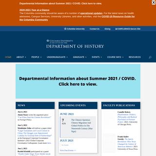 Department of History - Columbia University -