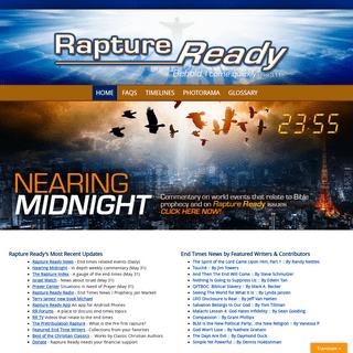 Rapture Ready - End Times News, Rapture Index, Pre-Tribulation