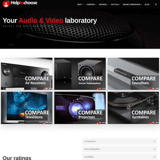 Compare & Find the Best Audio & Video Gear - HelpToChoose