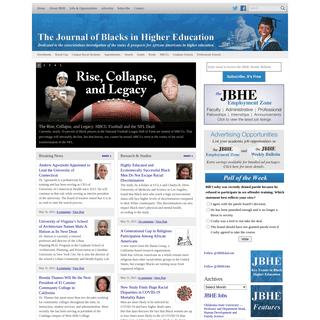 The Journal of Blacks in Higher Education