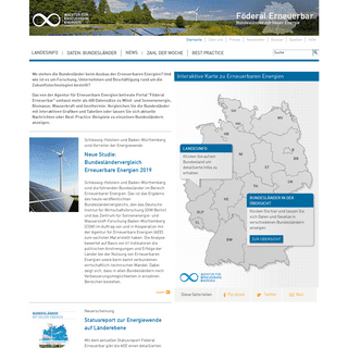 Startseite des Bundesländerportals zu Erneuerbaren Energien - Föderal Erneuerbar