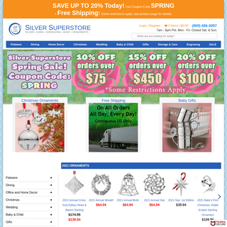 Sterling silver, Stainless flatware, Silverware, China for less! - Silver Superstore