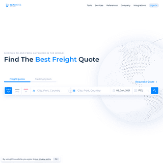 International container shipping - Online freight marketplace