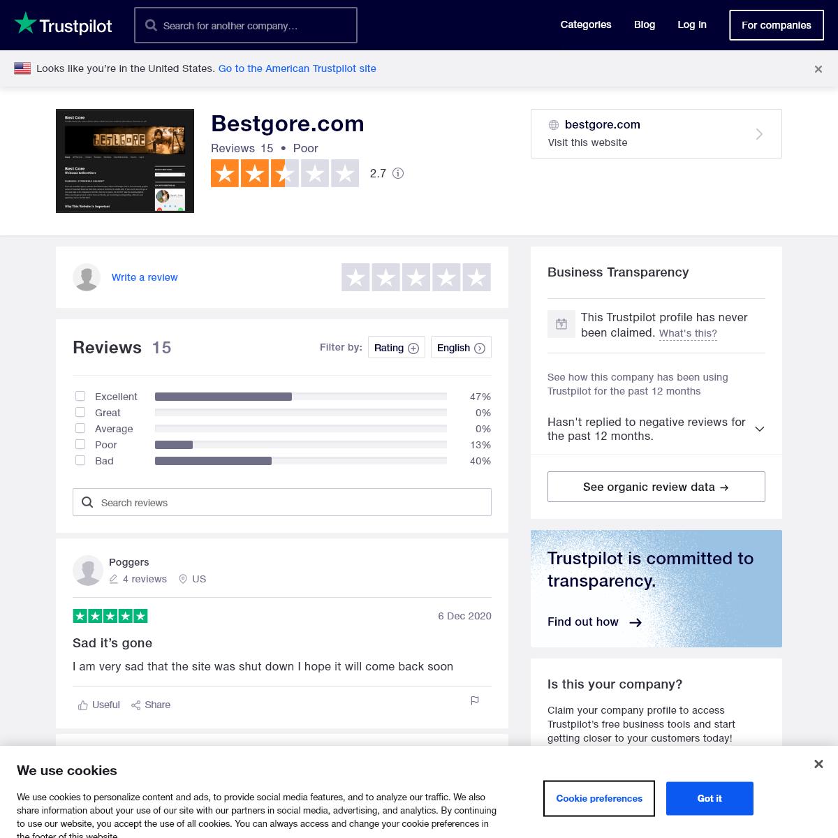 Bestgore.com Reviews - Read Customer Service Reviews of bestgore.com
