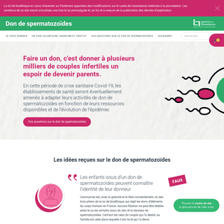Don de spermatozoïdes - Le site d`information de référence