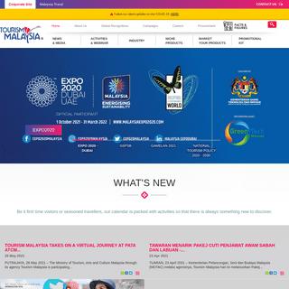 Tourism Malaysia Corporate Site