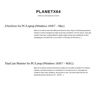 Planetx64 - Software and hardware reviews