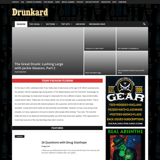 Modern Drunkard Magazine - Standing Up for Your Right to Get Falling Down Drunk Since 1996.