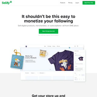 Sellfy - Sell Your Products Online Hassle-free