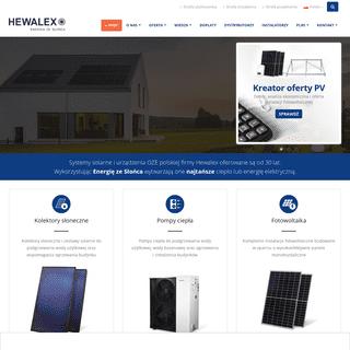 Solary, urządzenia OZE – polski producent - Hewalex.pl