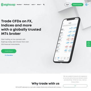 Eightcap - MT4 Broker - ASIC Regulated - Forex & CFD trading