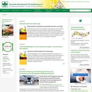 Deutsche Gesellschaft für Ernährung e. V. - dge.de - DGE