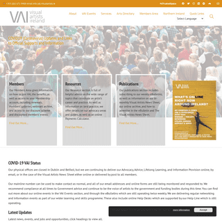 Visual Artists Ireland - the Representative body for professional visual artists in Ireland.
